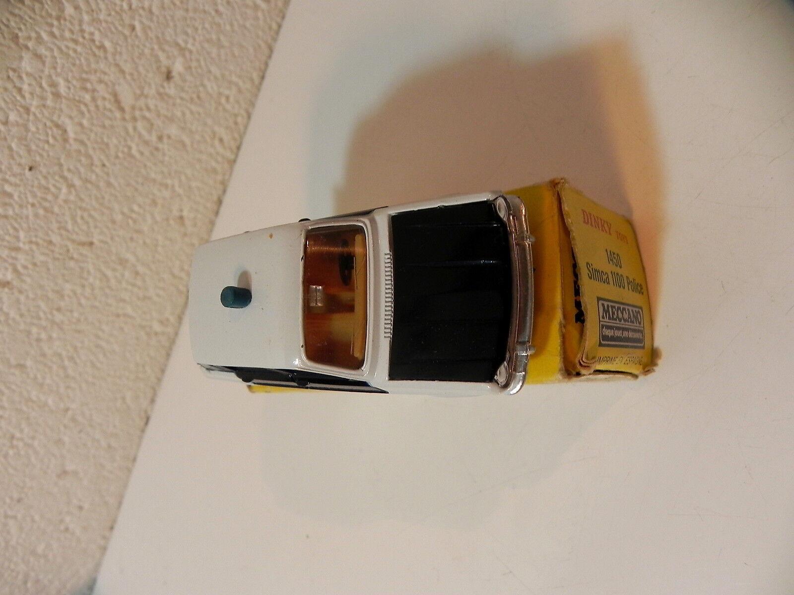 DINKY TOYS SPAIN 1450 SIMCA 1100 1100 1100 POLICE AVEC BOITE b04f36
