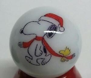 """Nice Snoopy/&Woodstock Glass 1/"""" Logo Marble With Stand # A"""