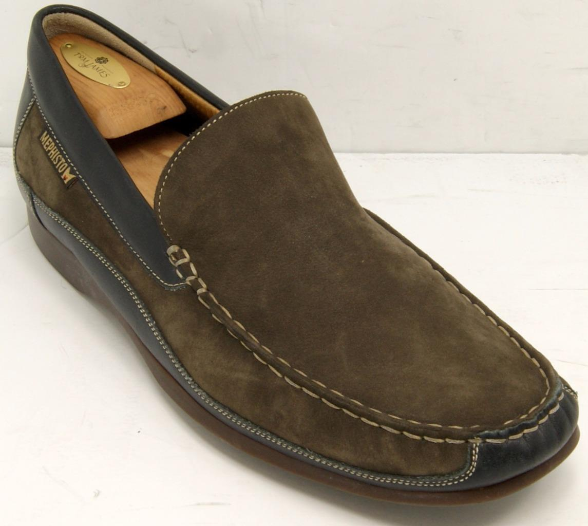 Mephisto Baduard Venetian Brown Black Cool Air Loafers  Sz 11.5 US  M shoes