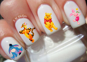 Image is loading Winnie,the,Pooh,Nail,Art,Stickers,Transfers,Decals,