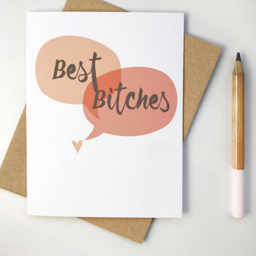 Funny Best Friend Long Distance Swear Greeting Card for Her or Sister