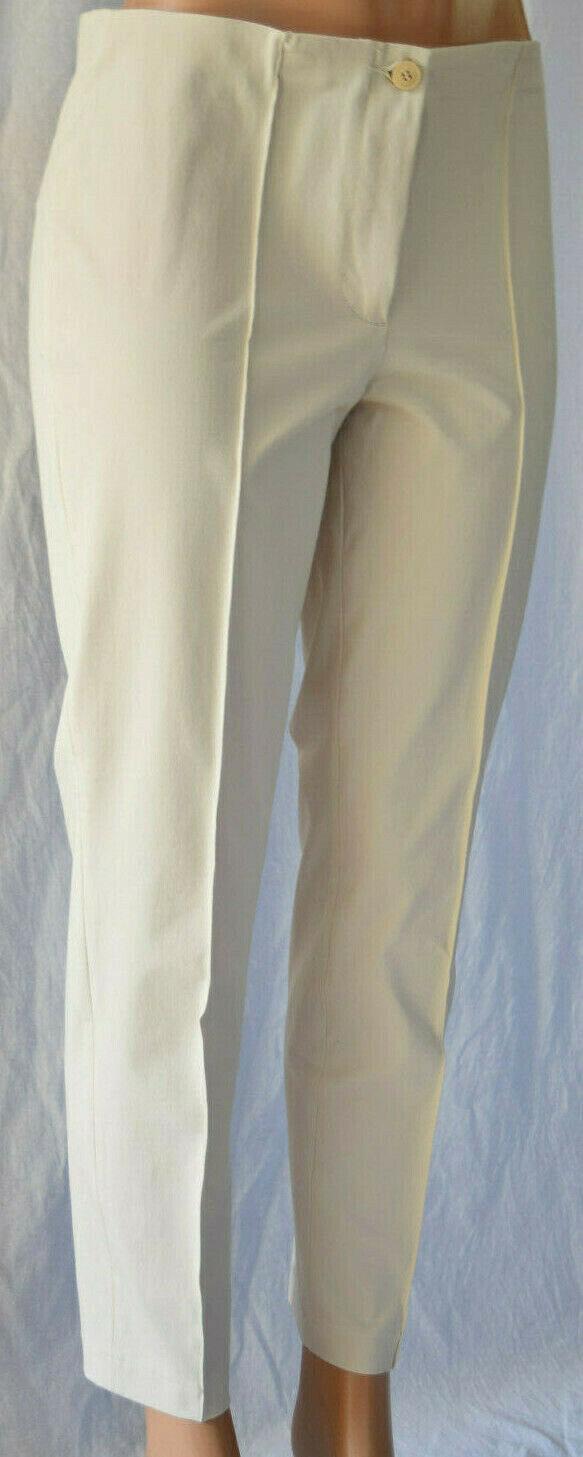 CAMBIO COLLECTION BEIGE COTTON NYLON SPANDEX BLEND PANTS SIZE 42 US10 CA010