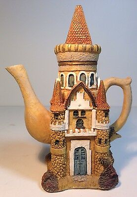 Vintage Disney Fairy Tale Teapot Porcelain Tea Pot Princess Tower Castle
