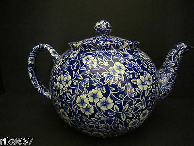 Heron Cross Pottery Victorian Calico English Chintz 8 Cup Tea Pot