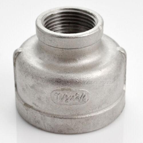 """1-1//2 /""""X3//4/"""" Mujer Pezón Con Rosca reductor de instalación de tuberías de acero inoxidable 304 Npt"""