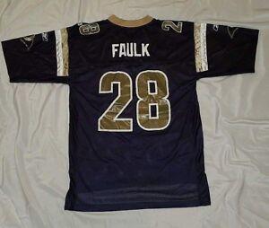 4f632d1fd NFL Men s Reebok St. Louis Rams Marshall Faulk Football Jersey Size ...