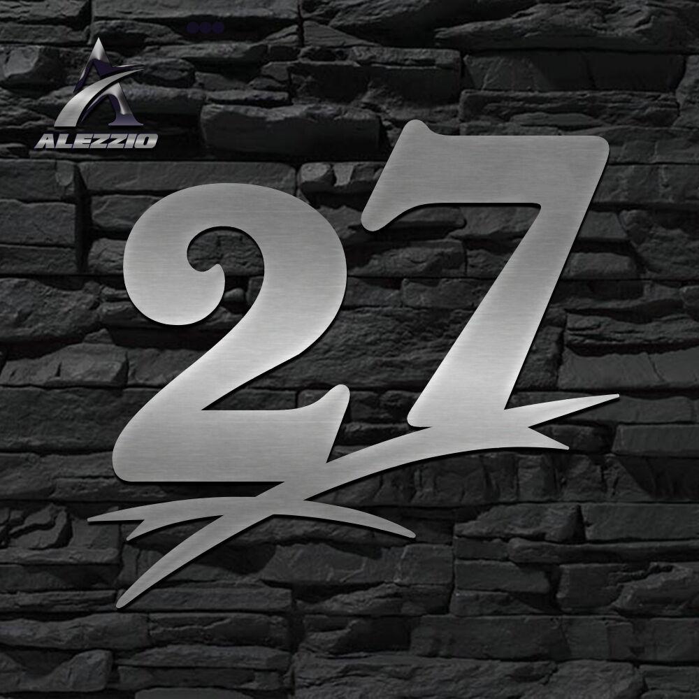 HAUSNUMMER EDELSTAHL 27 in 16cm,20cm,30cm,40cm,50cm,ORIGINAL ALEZZIO DESIGN  NEU