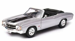 CHEVROLET Chevelle SS 454 - 1971 - silver / black - WELLY 1:24