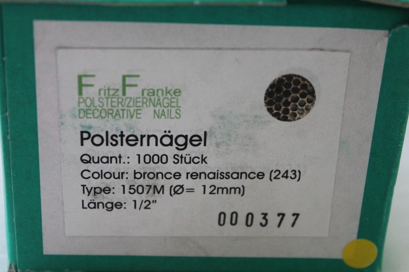 """Polsternägel Ziernägel 16 mm Ø Type 626 Bronze Hammerschlag Nägel 1//2 /"""" Länge"""
