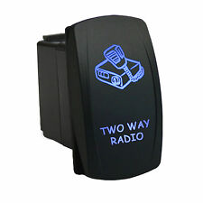 Rocker Switch 6B36B Laser TWO WAY RADIO dual LED blue marine boat waterproof