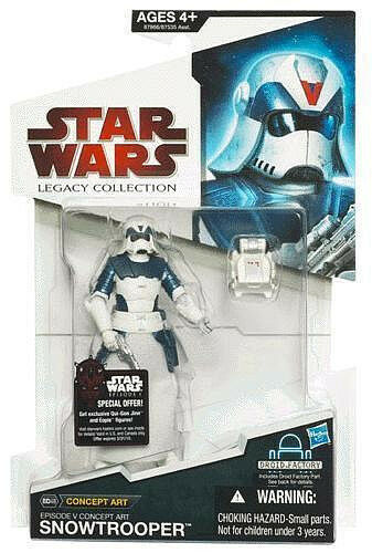 STAR WARS LEGACY COLLECTION_Concept Art SNOWTROOPER action figure_New & Unopened