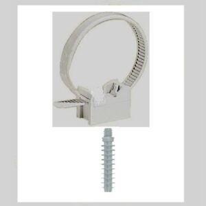 attache collier embase cheville fixation tube irl 16 32 lot de 25 pi ces ebay. Black Bedroom Furniture Sets. Home Design Ideas