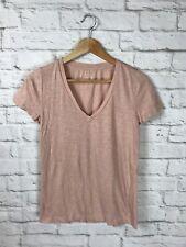NEW CAPEZIO Shell Pink Short sleeve crisscross back leotard CC868 frontlined