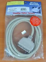 Qvs 6ft Scsi Iii To Scsi I Double Shielded Cable Cc367d-06 - Free Shipping