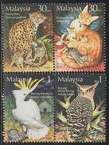 296-MALAYSIA-2002-STAMP-WEEK-THE-TAME-amp-THE-WILD-SET-FRESH-MNH