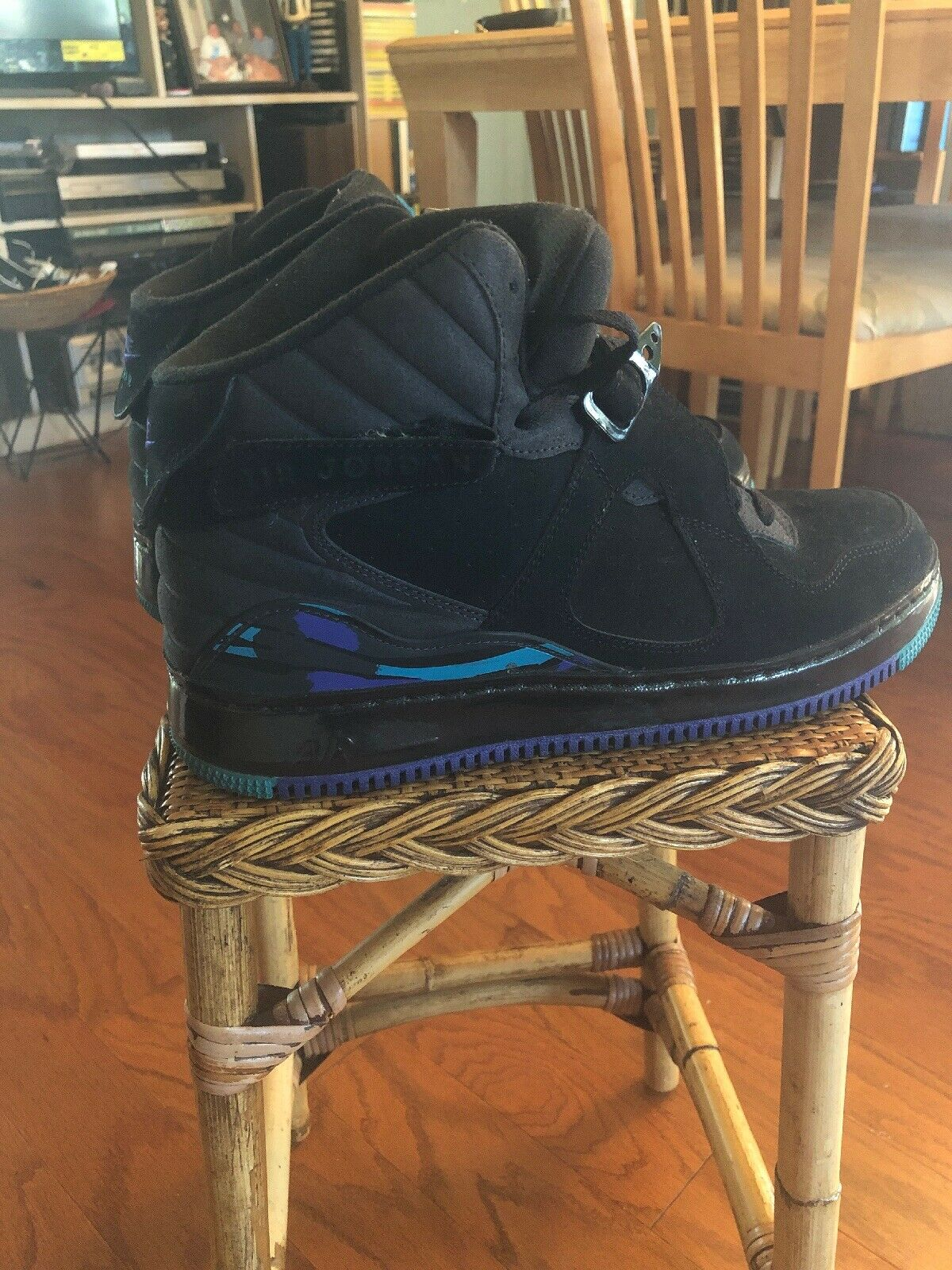 Air Jordan Fusion 8, Size 10.5, Black And Purple