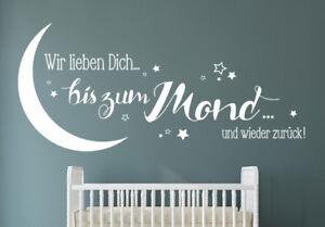 Wir lieben dich bis zum mond kinderzimmer wandspruch for Wandspruche kinderzimmer