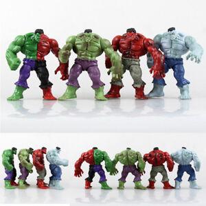 5-034-Avengers-Hero-The-Green-Red-Man-Gray-Hulk-PVC-Figure-Model-Toys-Xmas-Gift-HOT