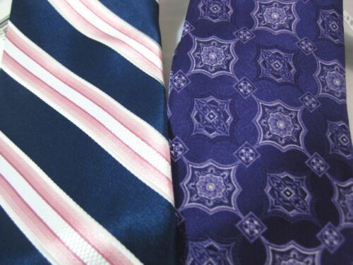 LOT OF 2 ARROW USA NECKTIES 100/% SILK TIES NWT TIE NECK TIE STRIPED GEOMETRIC