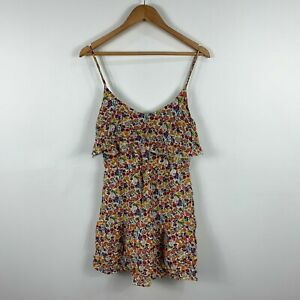Tigerlily-Womens-Dress-Size-10-Multicoloured-Floral-Sleeveless-Sundress