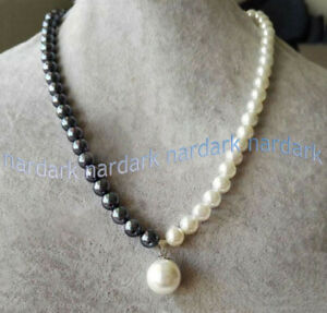 """Fashion Women 8mm Multicolor South Sea Shell Pearl Round Beads Necklace 18/"""" AAA"""