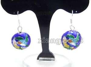 18mm-Round-Blue-Hummingbird-Cloisonne-Beads-Dangle-Earrings-for-Women-ear511