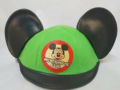 Rare GREEN Mickey Mouse Club Ear Hat Disneyland Souvenir Childs size Youth