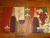 Anti Fatigue Pvc Foam Mat Rug 20x36 Vino Wine Pinot Noir Bottle Grapes Lattice