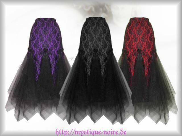 Gothic Mermaid Rock Spitze Tüll 3 Farben Elf Fantasy Samhain Beltane Fee Wicca