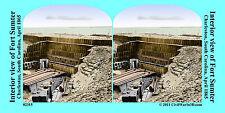 Fort Sumter Gabions Charleston SC Civil War SV Stereoview Stereocard 3D 02315