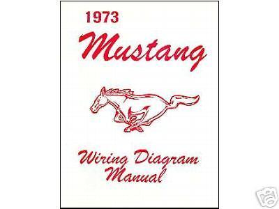 1973 73 MUSTANG/MACH 1 WIRING DIAGRAM MANUAL | eBay
