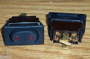 Details about *ONE* McGill Lit Marine RV (On)Off(On) Momentary SPDT Rocker  Switch 0852-0115