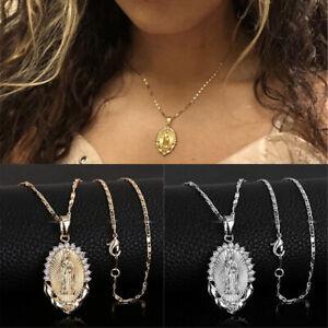 Women-Virgin-Mary-Overlay-Religious-Catholic-Pendant-Necklace-Jewelry-Gift-HOT