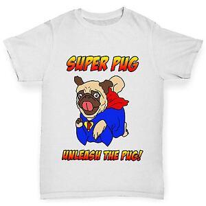 Twisted-Envy-Boy-039-s-Super-Pug-Unleash-The-Pug-Cotton-T-Shirt