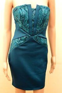 3bb4ac0e New Lipsy Teal Sequin Bandeau Bodycon Dress Sz UK 10 12 14 & 16 | eBay