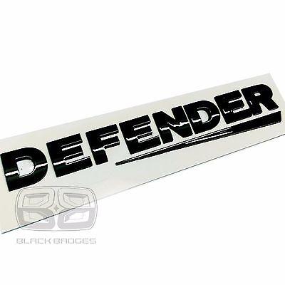 LAND ROVER DEFENDER COUNTY 90 110 SWOOSH CHROME 3D BACK REAR BADGE LETTERING