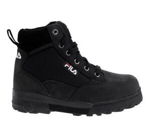 fila schuhe stiefel boots grunge mid leder schwarz herren div gr en ebay. Black Bedroom Furniture Sets. Home Design Ideas
