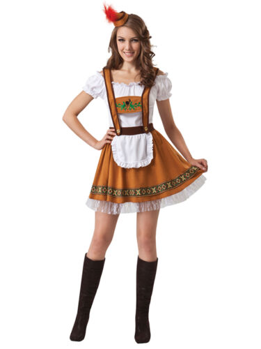 Bavarian Country Girl Oktoberfest German Beer Maid Wench Fancy Dress Costume