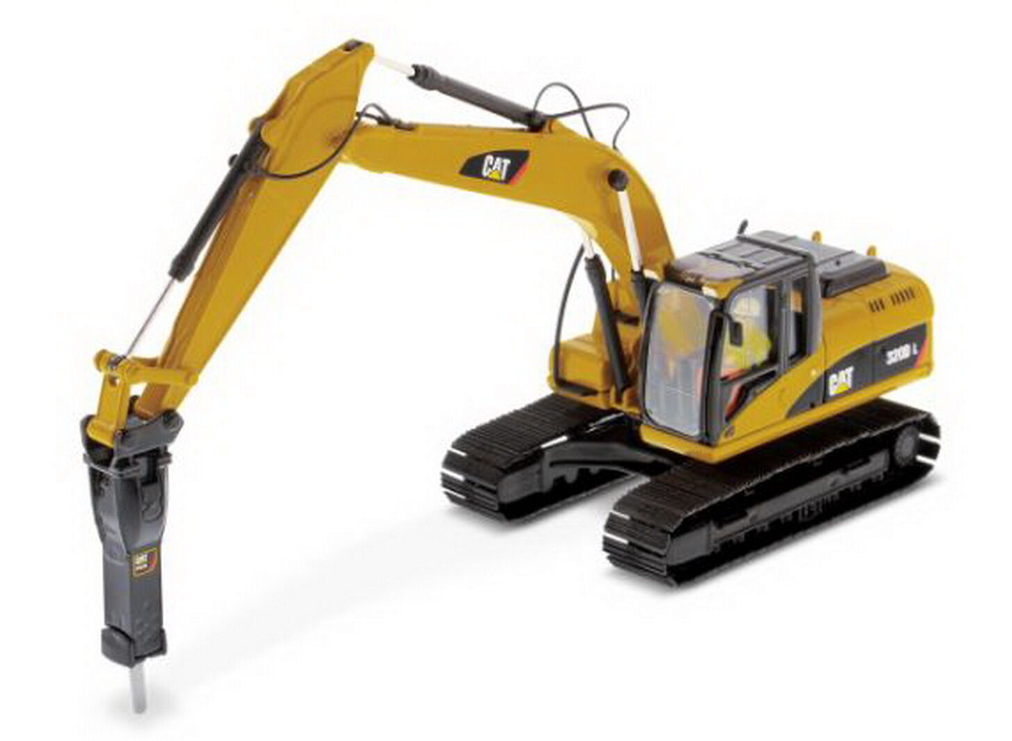 1 50 DM Caterpillar Cat 320D L Hydraulic Excavator with with with Hammer Diecast fe0349