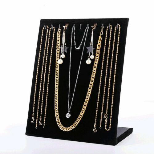 Jewelry Velvet Necklace Chain Display Storage Holder Stand Organizer Rack NEW