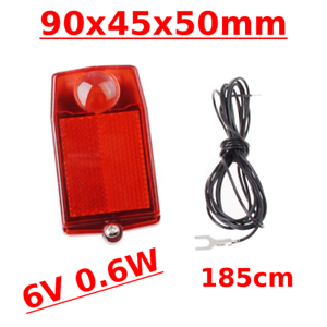 BIKE REAR LIGHT 6V0.6W CLASSIC RETRO CUSTOM CYCLE STOP LAMP CABLE DYNAMO BRACKET