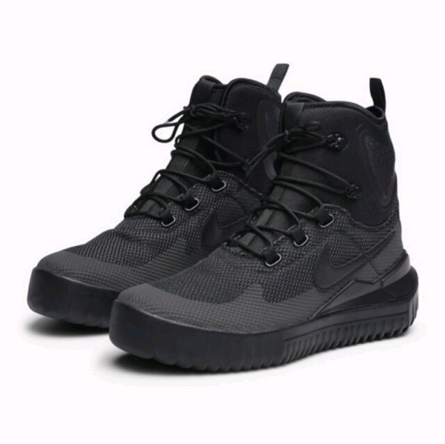 competitive price cdc59 21c64 Nike Air Wild Mid Trail Men Size 9.5 Triple Black Anthracite 916819 001