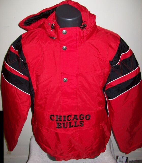 Mitchell /& Ness Chicago Bulls Half-Zip Anorak Jacke