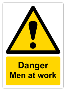 Fire /& salud y seguridad señales de advertencia peligro hombre en el trabajo Imán la etiqueta engomada