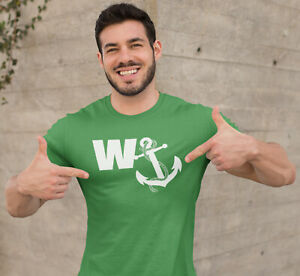 Dirty-Fingers-Funny-Men-039-s-T-Shirt-034-W-Anchor-034-Man-Boy-Lad-039-s-Holiday-Stag-Do-Gift