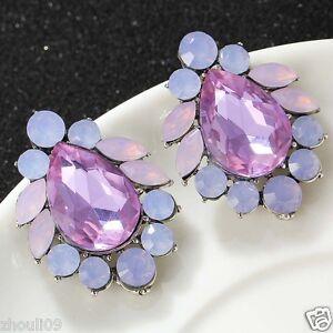 New-Fashion-Women-Elegant-Crystal-Rhinestone-Ear-Stud-silver-dangle-Earrings-445