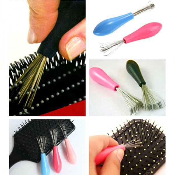 1PC Hot Sales Beauty Tool Comb Hair Brush Cleaner Pick Plastic Handle Brand New