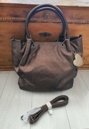 Fritzi aus Preußen Damen Handtasche Dominique Saddle Bronze
