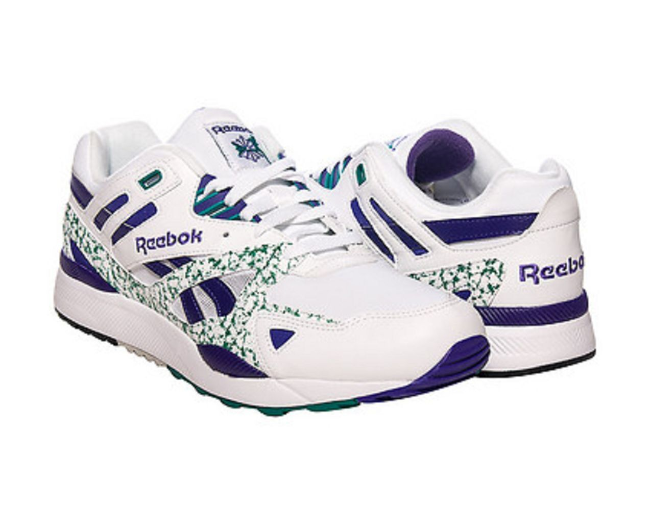 REEBOK M45596 VENTILATOR II Mn's (M) White/Purple Leather Athletic Shoes