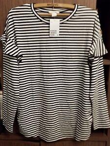 d811859f46e56 H&M Maternity MAMA Jersey Top Long Sleeve BNWT Black/white | eBay